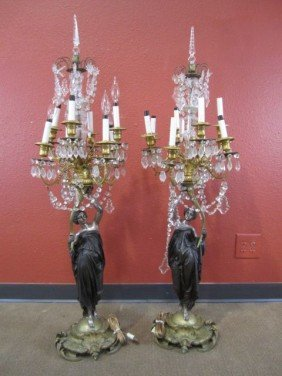 A11-145  PAIR OF FIGURAL CANDELABRAS