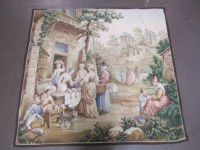 A11-158  ANTIQUE FRENCH AUBUSSON TAPESTRY