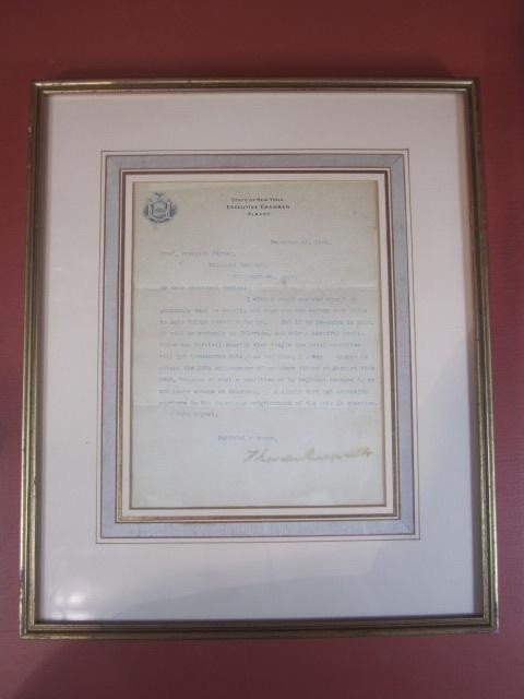 507: A45-32  AUTOGRAPHED THEODORE ROOSEVELT LETTER