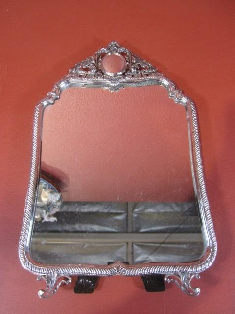 509: A45-34  STERLING SILVER TABLE MIRROR