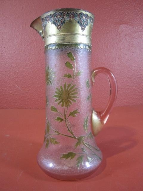 515: A45-40  FRENCH CAMEO GLASS PITCHER