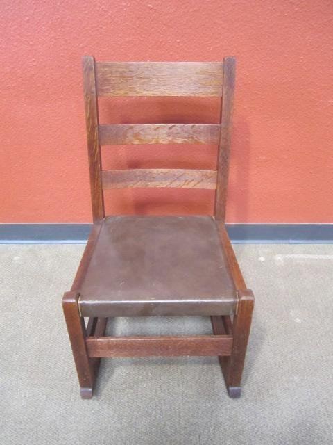 "678: A44-21  SIGNED ""L & JG STICKLEY"" ROCKING CHAIR - 2"