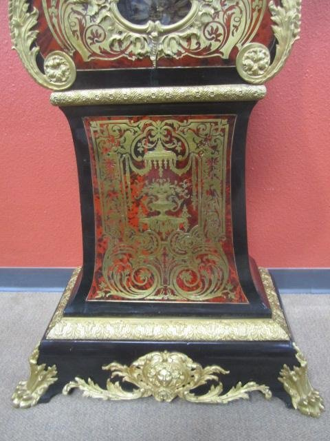 648: A62-2  SIGNED TALL CASE BOULLE CLOCK - 4