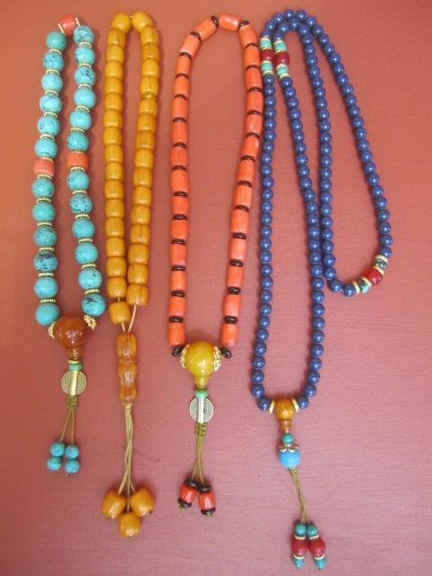 16: D56-5  FOUR BEADED NECKLACES