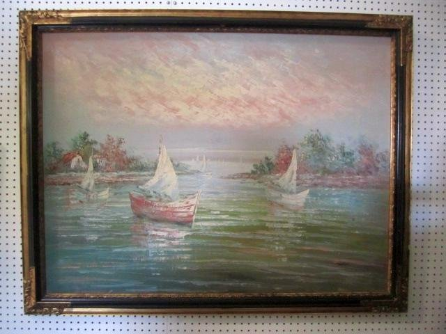 """8: E57-2  OIL PAINTING SIGNED """"TAYLOR"""""""
