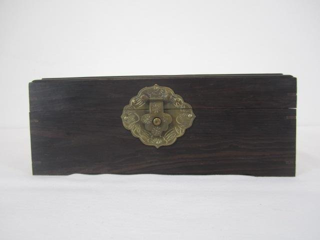 4: A66-4  CHINESE CARVED WOOD BOX
