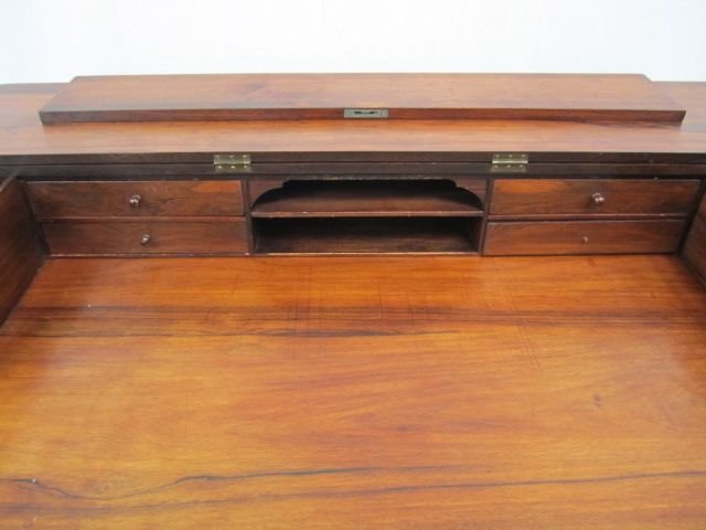 72: A19-10  ANTIQUE WALNUT SPINET DESK - 2