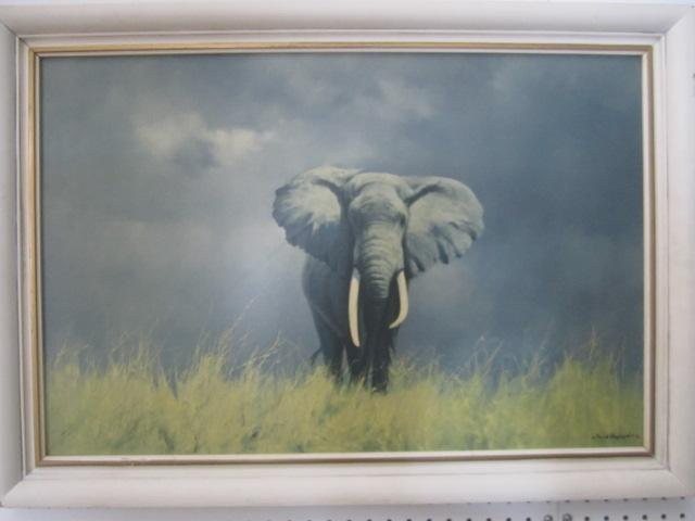 210: E44-1  DAVID SHEPHERD ELEPHANT PRINT