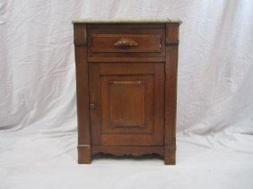 13: E33-13  MARBLE TOP NIGHT STAND
