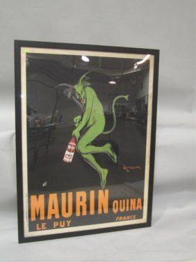 501: A45-1  LARGE FRENCH ADVERTISING POSTER