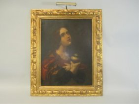 506: A45-6  LARGE OLD MASTER PAINTING OF WOMAN
