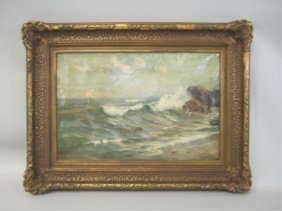 507: A45-7  ANGEL ESPOY SEASCAPE PAINTING