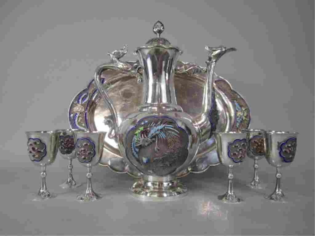 664: A9-1  CHINESE STERLING SILVER TEA SET