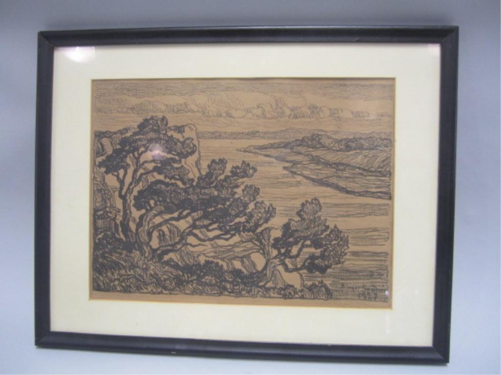505A: A45-65  BIRGER SANDZEN WOODBLOCK DATED 1927