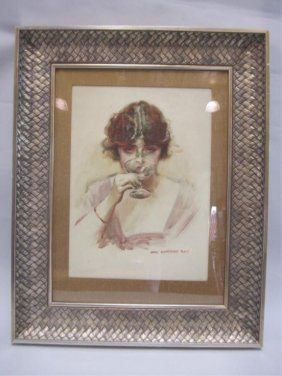 505B: A45-67  JAMES MONTGOMERY FLAGG WATERCOLOR