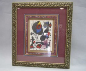 505D: H46-1  MIRO SIGNED LITHOGRAPH