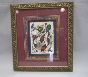 H46-2  MIRO SIGNED LITHOGRAPH
