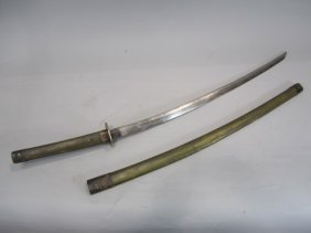 505H: A66-14  SIGNED JAPANESE SWORD