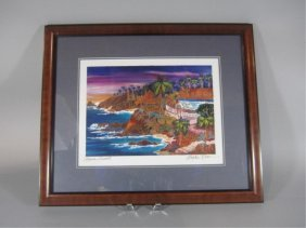 "H18-8  ""LAGUNA SUNSET"" COLOR LASER PICTURE"