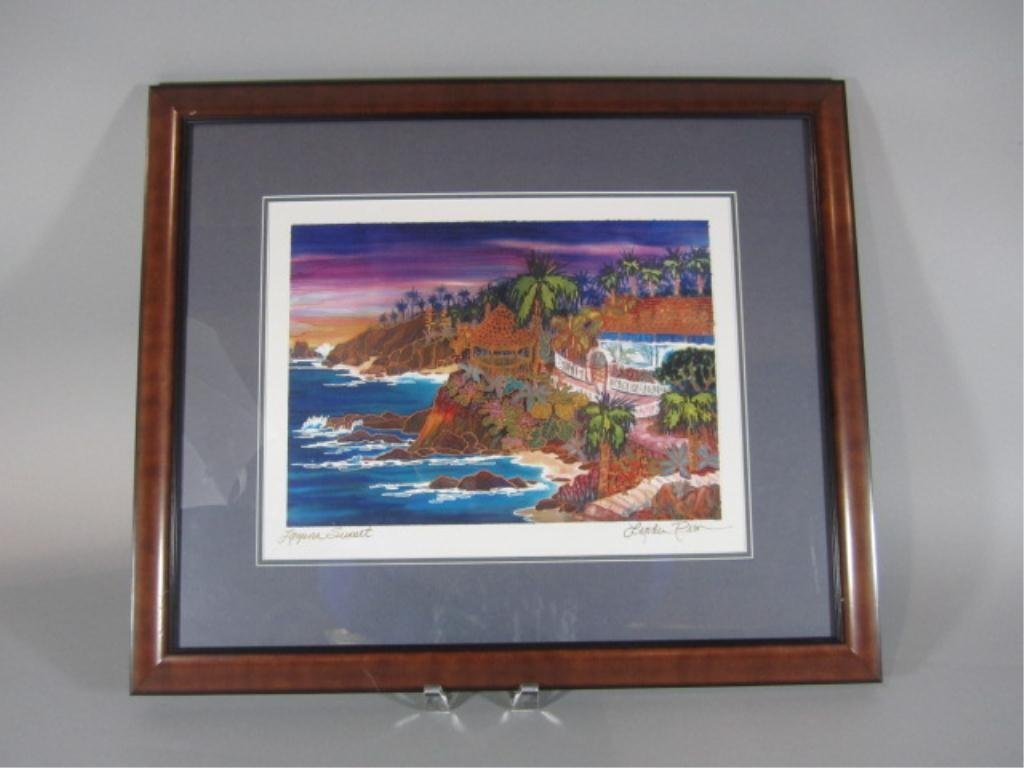 "6: H18-8  ""LAGUNA SUNSET"" COLOR LASER PICTURE"