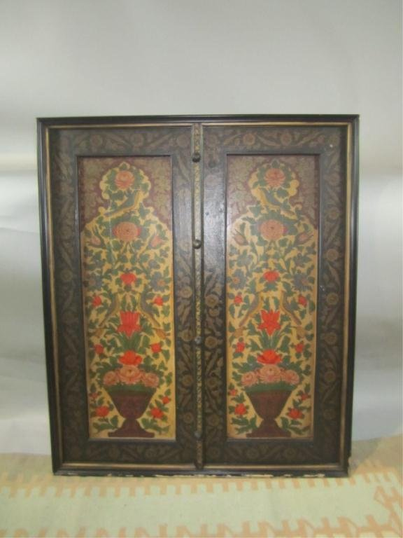 28: H18-49  PAINTED DOUBLE WOOD PANEL