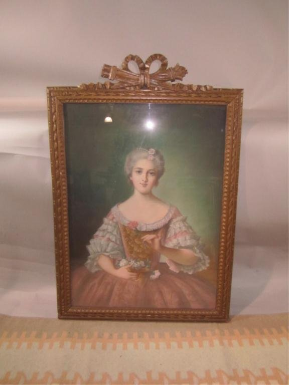 29: H18-50  PORTRAIT OF A LADY WITH FLOWERS
