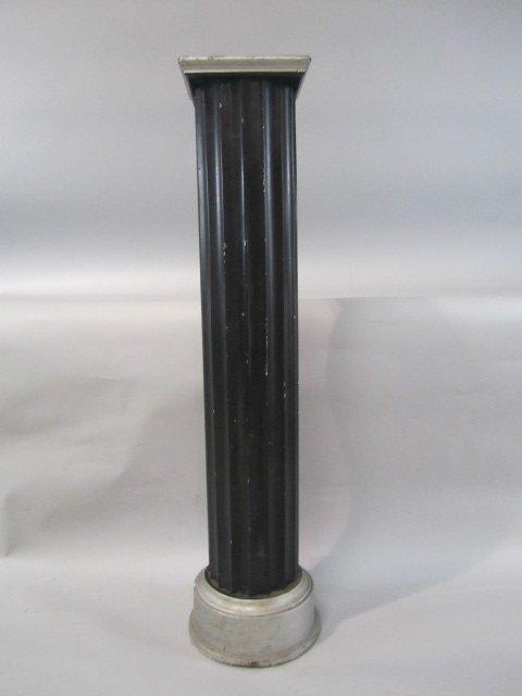 56: H36-3  MGM BLACK & SILVER PEDESTAL