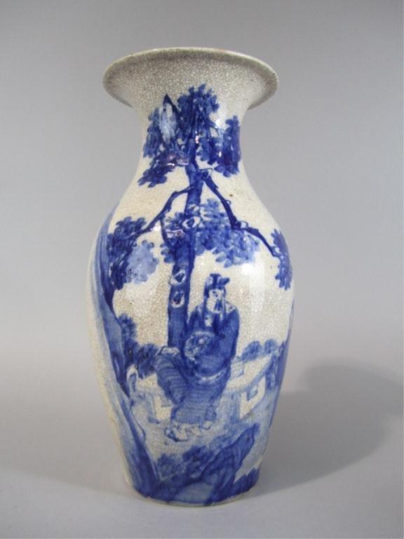 80: NY38  CHINESE BLUE & WHITE PORCELAIN VASE