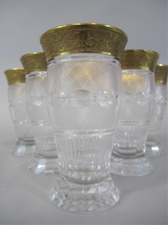 41: H80-197  SET OF 6 MOSER SPLENDID GOLD TUMBLERS - 4