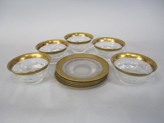 44: H80-200  SET OF 5 MOSER SPLENDID GOLD SHERBERTS