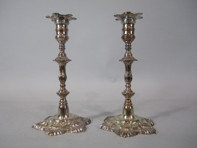 249: H25-139  2PC. MYER MEYERS PLATED CANDLE STICKS