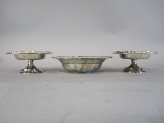 60E: H32-13  LOT OF 3 STERLING SILVER BOWLS