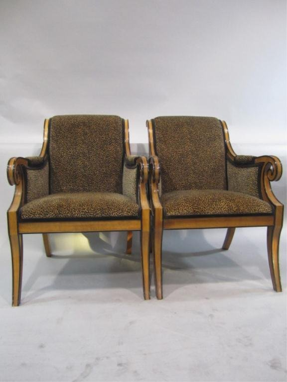 67G: H38-7  PAIR OF DREXEL HERITAGE ARM CHAIRS
