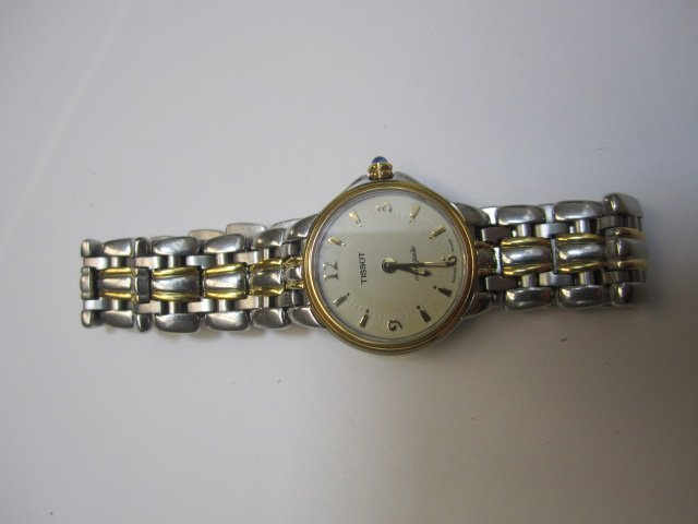 240D: A27-25  ONE LADIES TWO TONE TISSOT MARQUISE  WATC