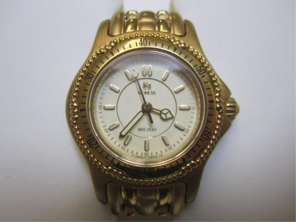 240G: A27-28  ONE NEW LADIES GOLD PLATED NOBLIA WATCH
