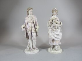 A70-1  PAIR OF MEISSEN FIGURES