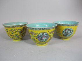 A70-2  SET OF THREE CHINESE BOWLS