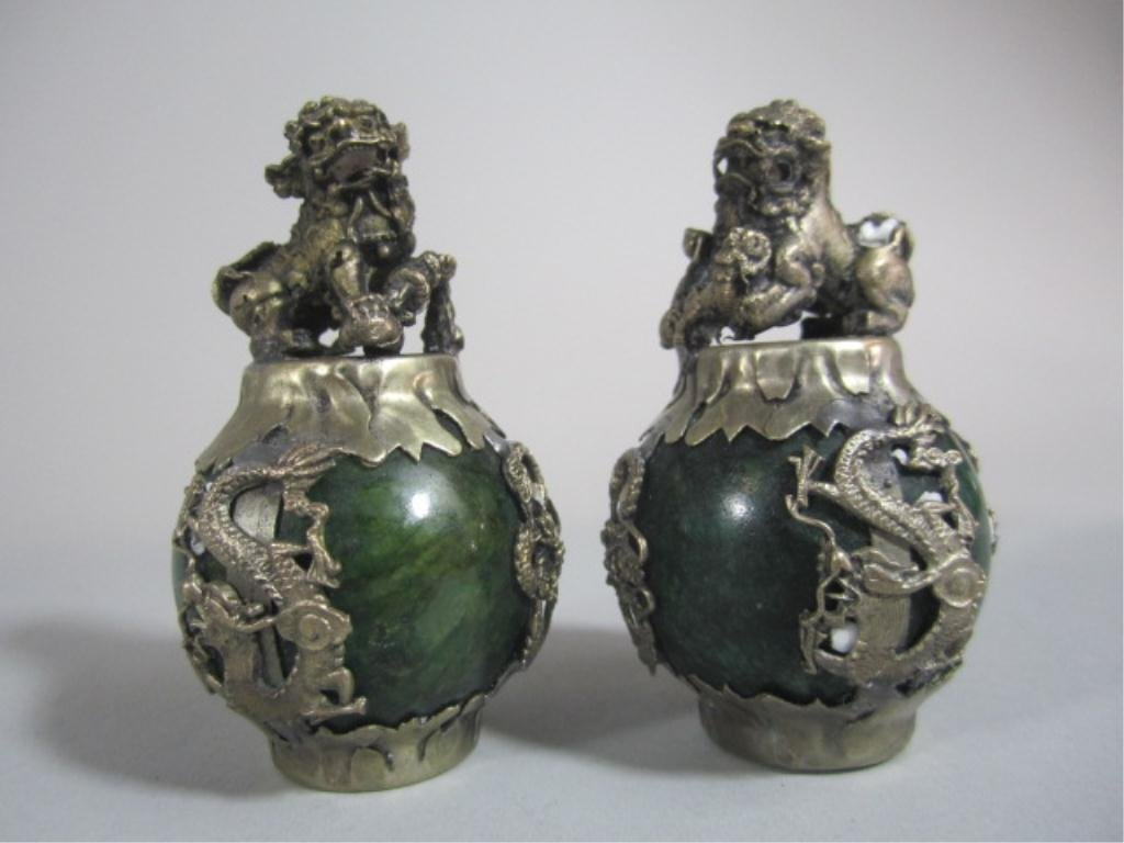 A70-4  PAIR OF CHINESE FOO LIONS