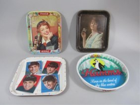 C85-3  FOUR VINTAGE METAL TRAYS