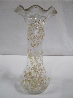 A12-2  ANTIQUE MOSER VASE