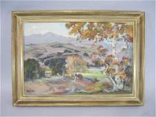 A337  AUTUMN OIL PAINTING BY LOUISE LEYDEN