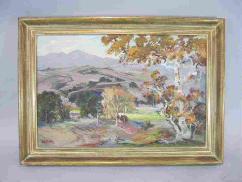 """A3-37  """"AUTUMN"""" OIL PAINTING BY LOUISE LEYDEN"""