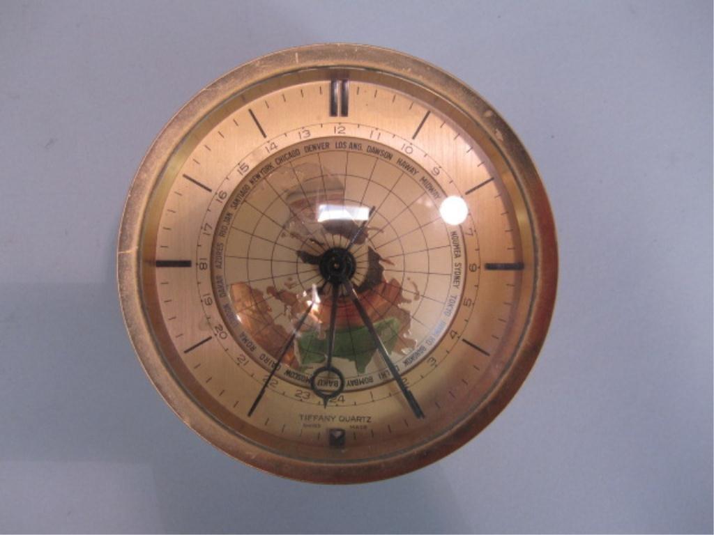 740: A11-40  TIFFANY QUARTZ CLOCK