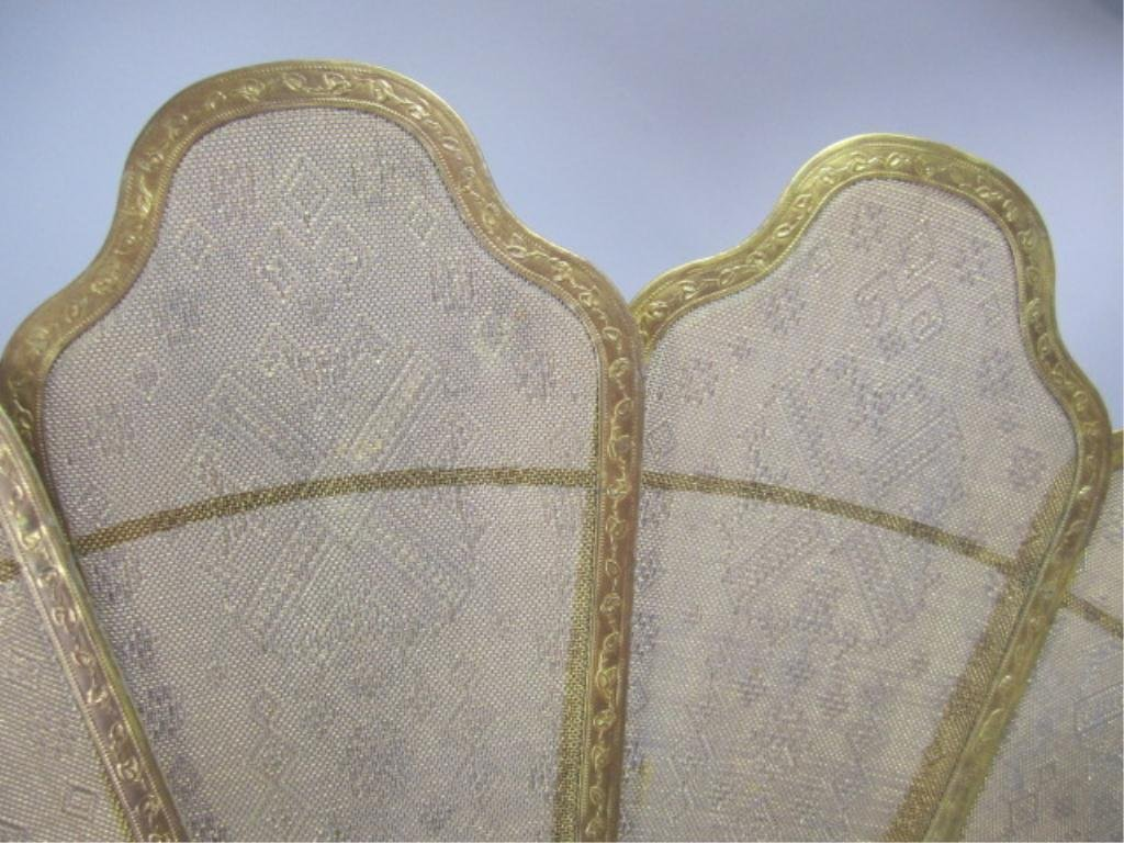 A9-13  GILT BRONZE FIREPLACE SCREEN - 6