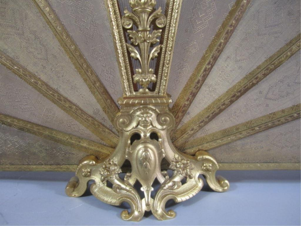 A9-13  GILT BRONZE FIREPLACE SCREEN - 8