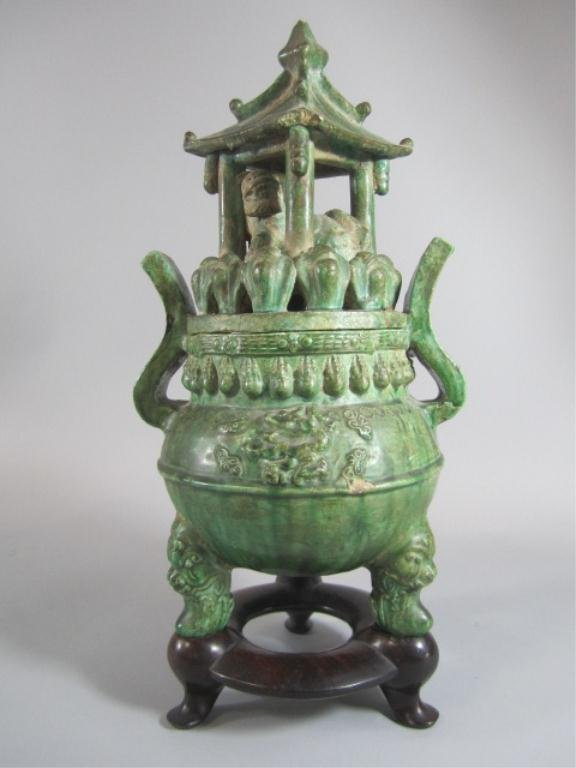 A72-26  TERRA COTTA INCENSE BURNER