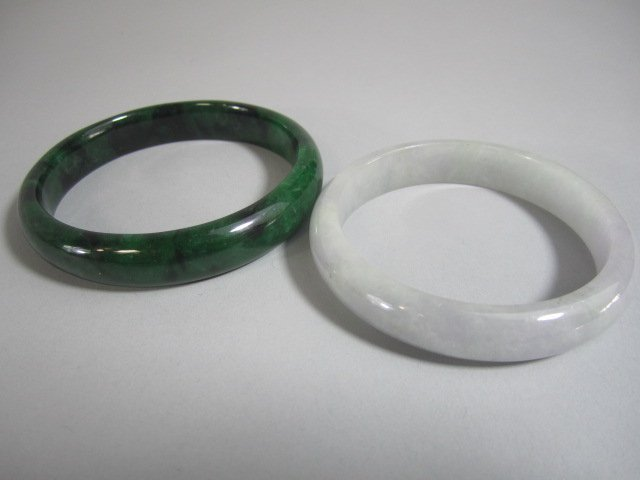 A72-29  TWO CHINESE BANGLE BRACELETS