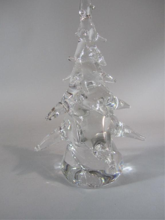 a3 13 signed daum crystal christmas tree - Crystal Christmas Tree