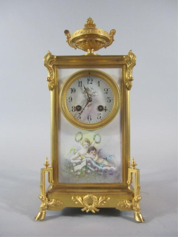 A84-1  SEVRES PORCELAIN & GILT BRONZE CLOCK