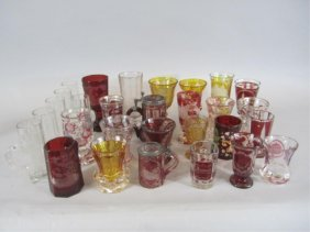 A44-32  COLLECTION OF BOHEMIAN GLASS